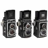 3 Zeiss Ikon TLR CamerasZeiss Ikon, Dresden. 1) Ikoflex I (854/16), 1939–51, no. 530159, Novar-