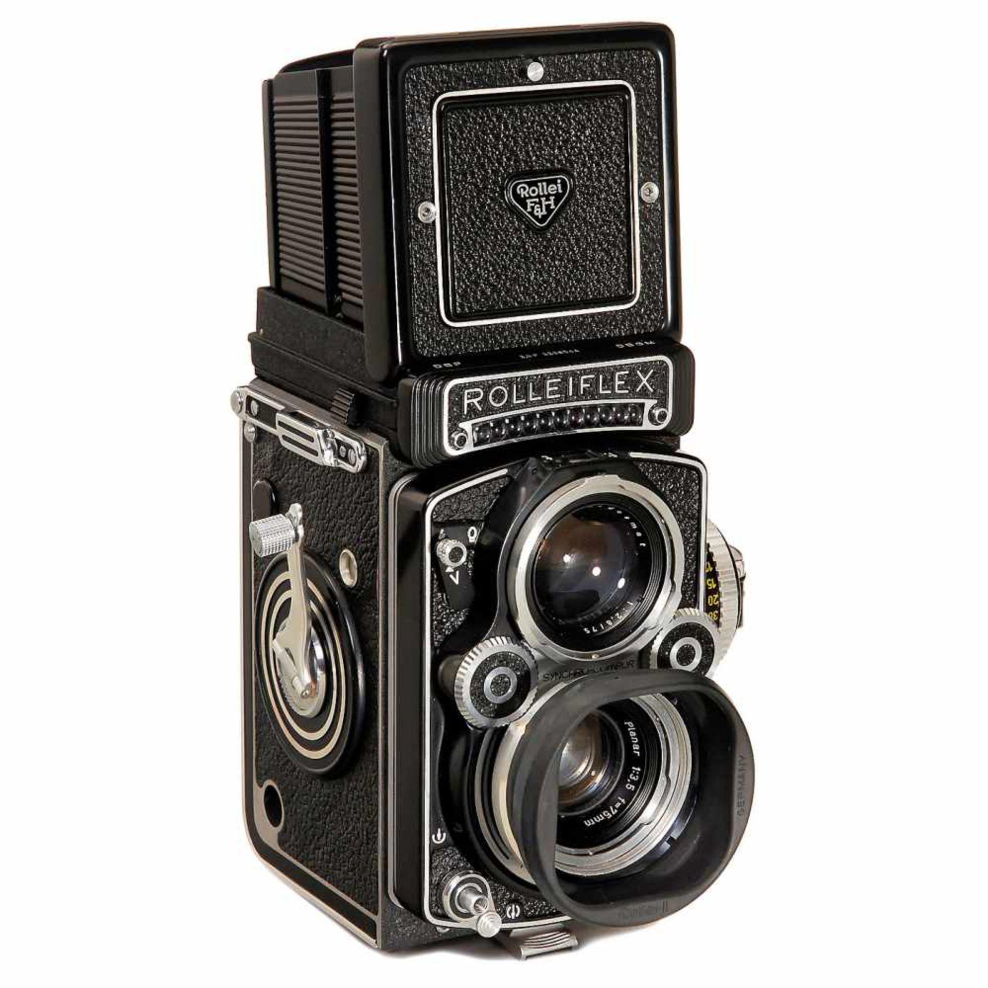 "Rolleiflex 3,5F ""Planar"", 1960Franke & Heidecke, Braunschweig. Third model, no. 3,5 F 2296044,"