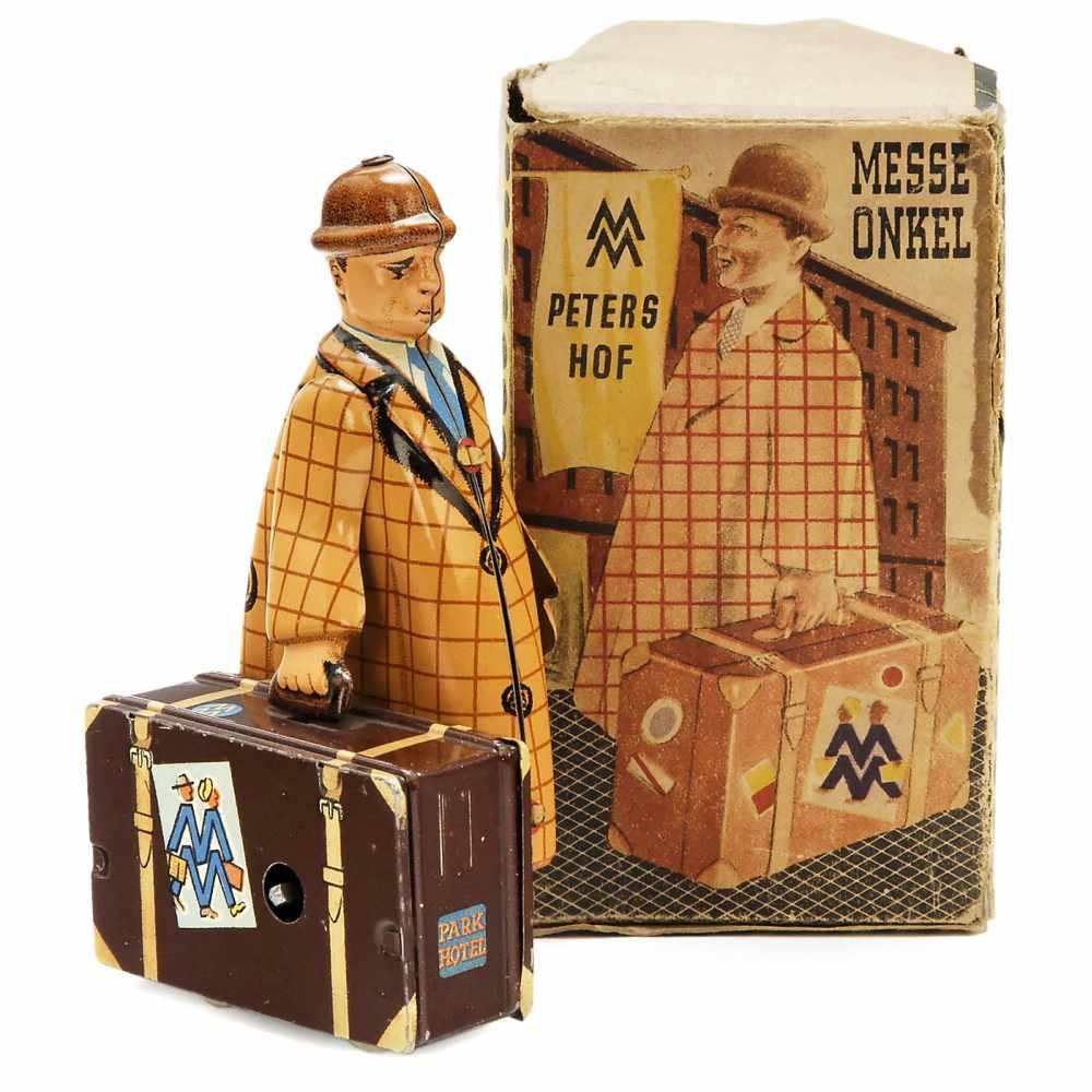 """Lot 2 - """"Messe Onkel"""" Tin Toy by MS Brandenburg, c. 1955No. 661, VEB Mechanische Spielwaren Brandenburg/"""