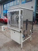 Fleximatic 5000 bottle unscrambler with hopper and