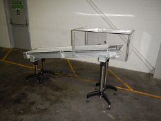 Angled roller conveyor. Aluminium construction. Gu