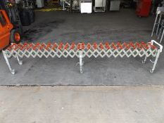 Expandable heavy duty roller conveyor with steel f