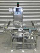 Best check weigher model 500, Infeed 8 x 15mm wide