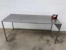 Stainless Steel Work Bench (Dims 200 cm x 80 cm x 91cm)