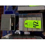Lot 42 - Allen Bradley SLC500 rack as pictured. Includes SCL 5/02 CPU.