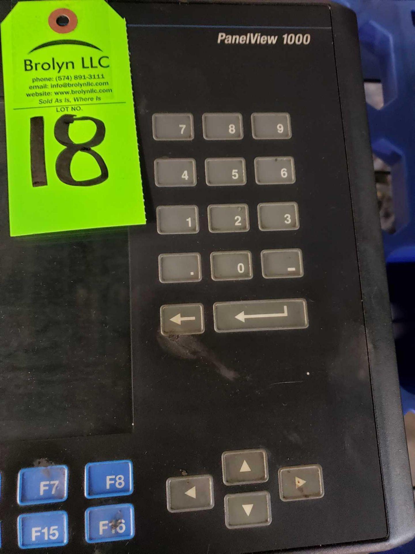 Lot 18 - Allen Bradley Panelview 1000 catalog number 2711-K10C1 rev B.