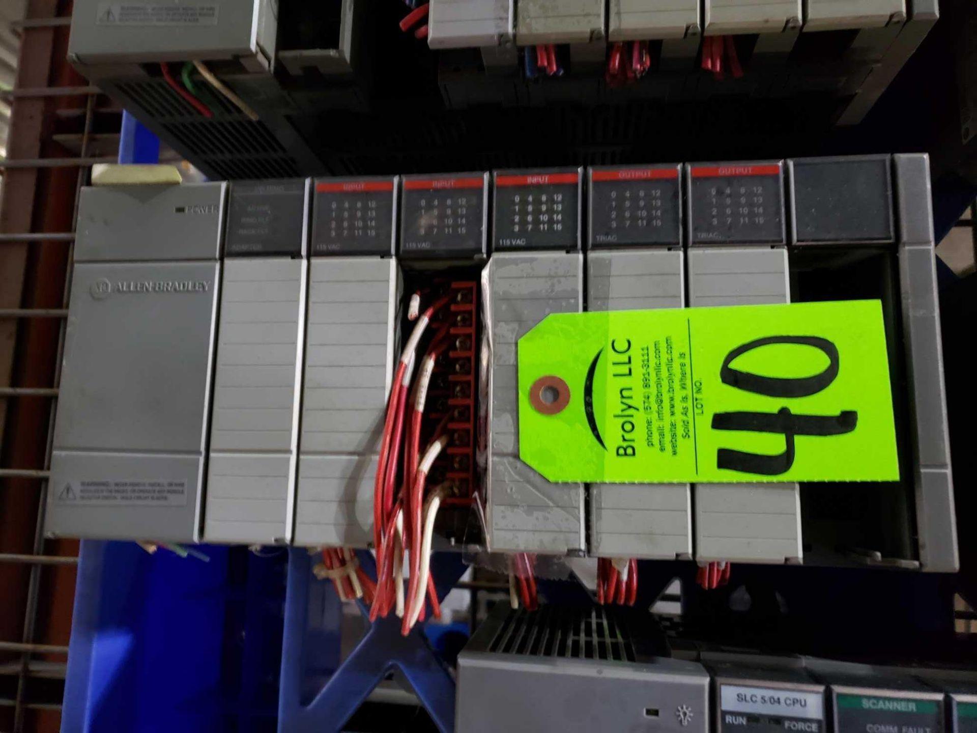 Lot 40 - Allen Bradley SLC500 rack as pictured.