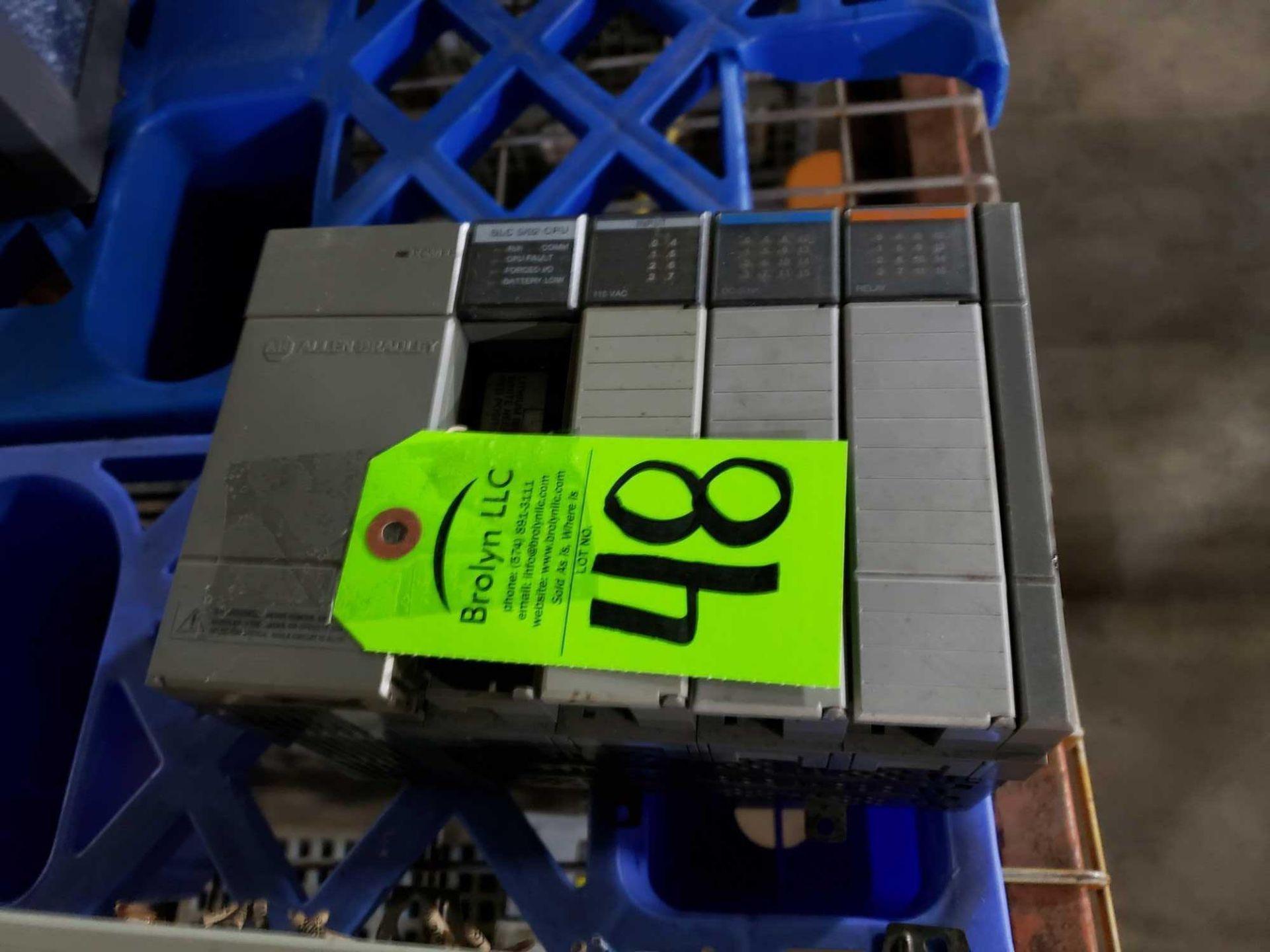 Lot 48 - Allen Bradley SLC500 rack as pictured.