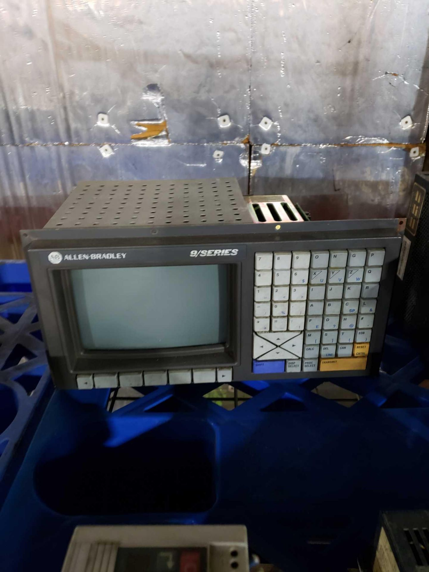 Lot 49 - Pallet of assorted electrical Allen Bradley 9/series controller, Parker and more.