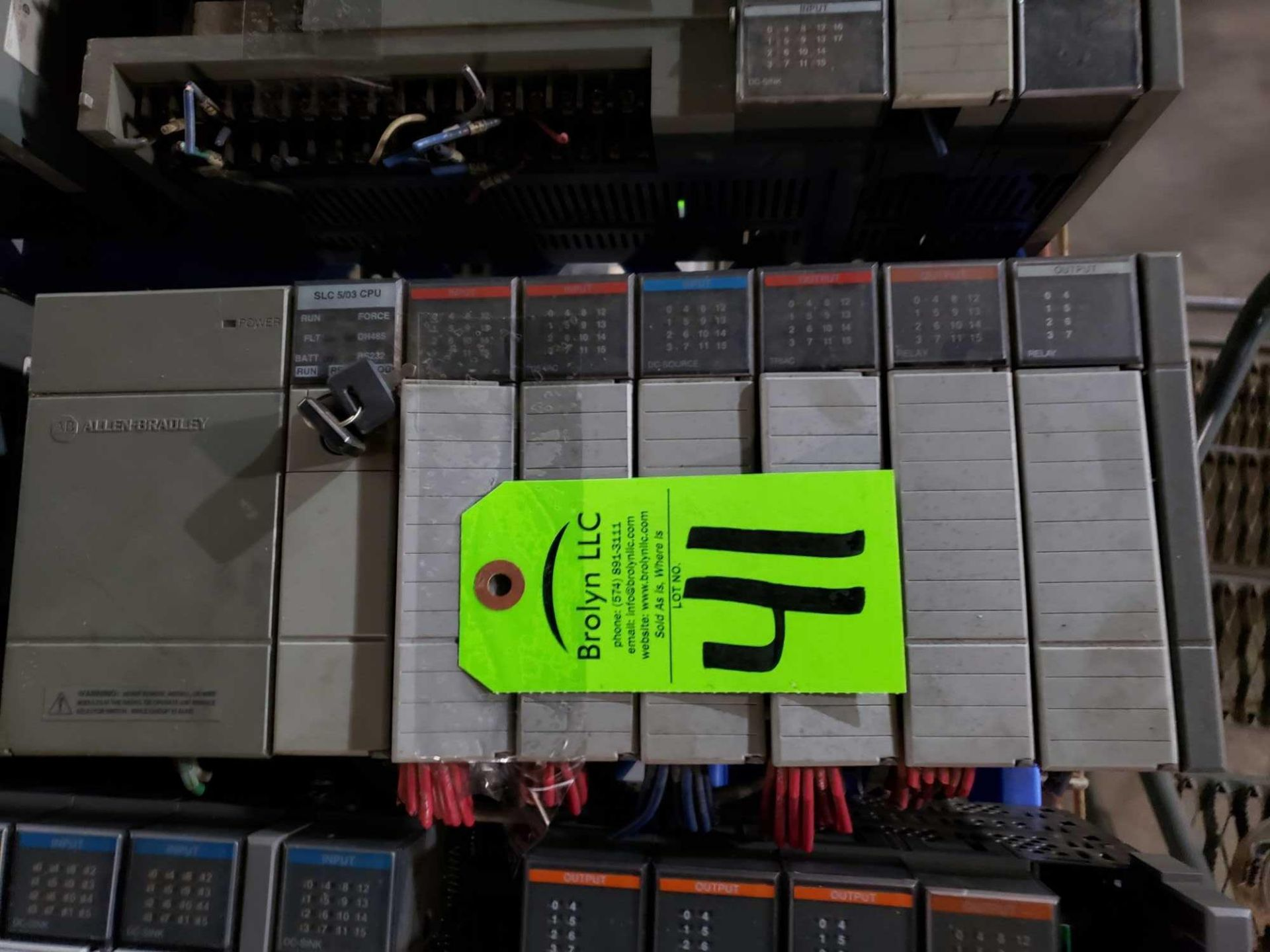 Lot 41 - Allen Bradley SLC500 rack as pictured. Includes SCL 5/03 CPU.