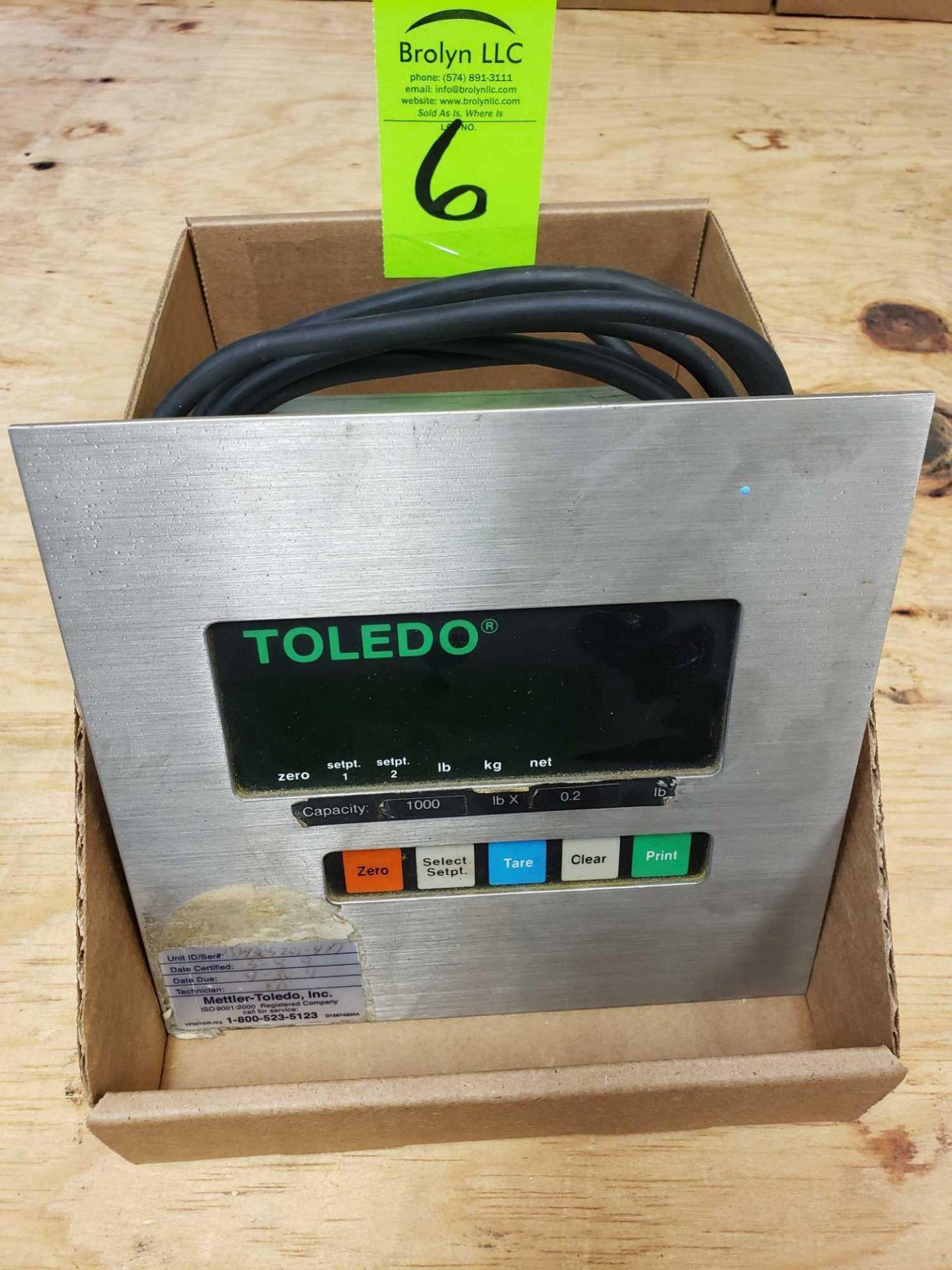 Lot 6 - Toledo scale display model 8510.