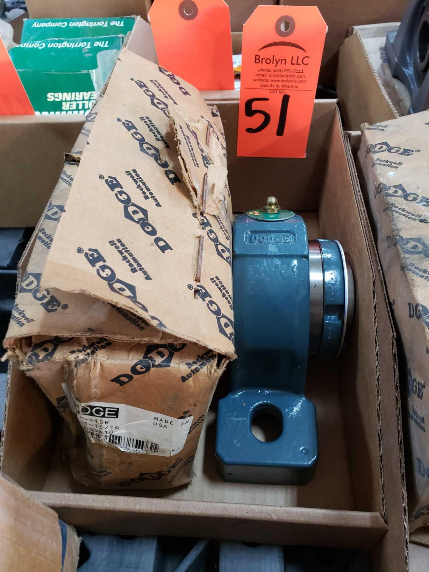 Lot 51 - Dodge bearing part number P2B-IP-115R. New in box.