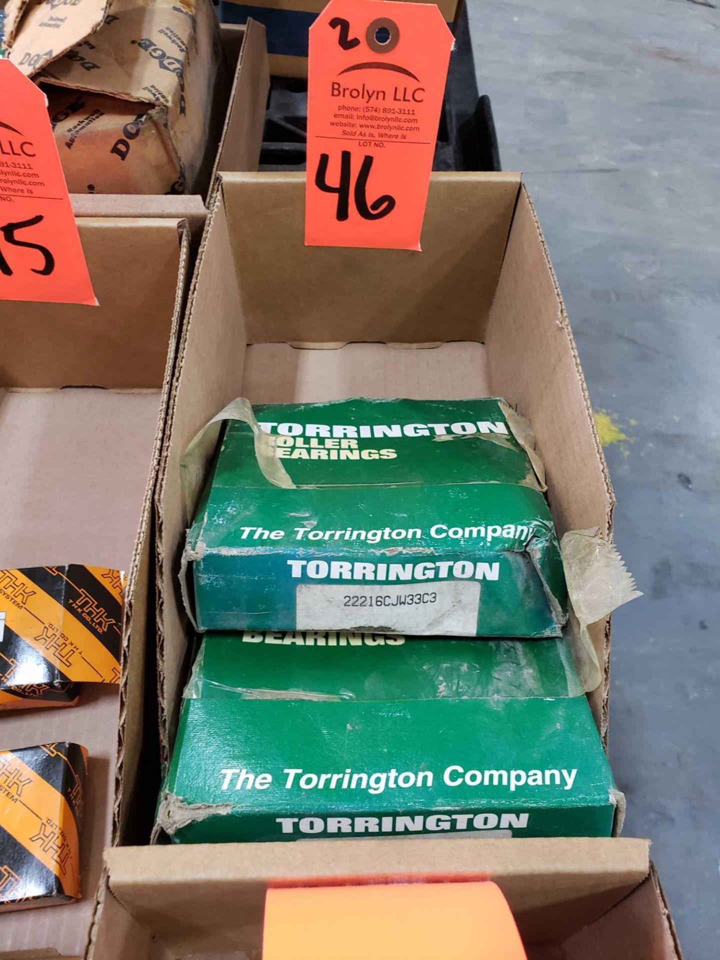 Lot 46 - Qty 2 - Torrington Bearings model 22216CJW33C3. New in boxes.