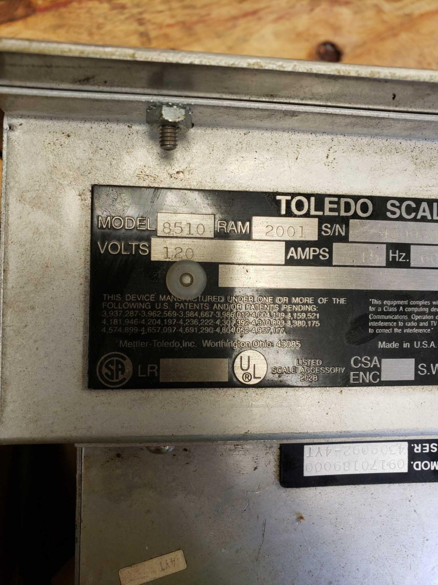 Lot 5 - Toledo scale display model 8510
