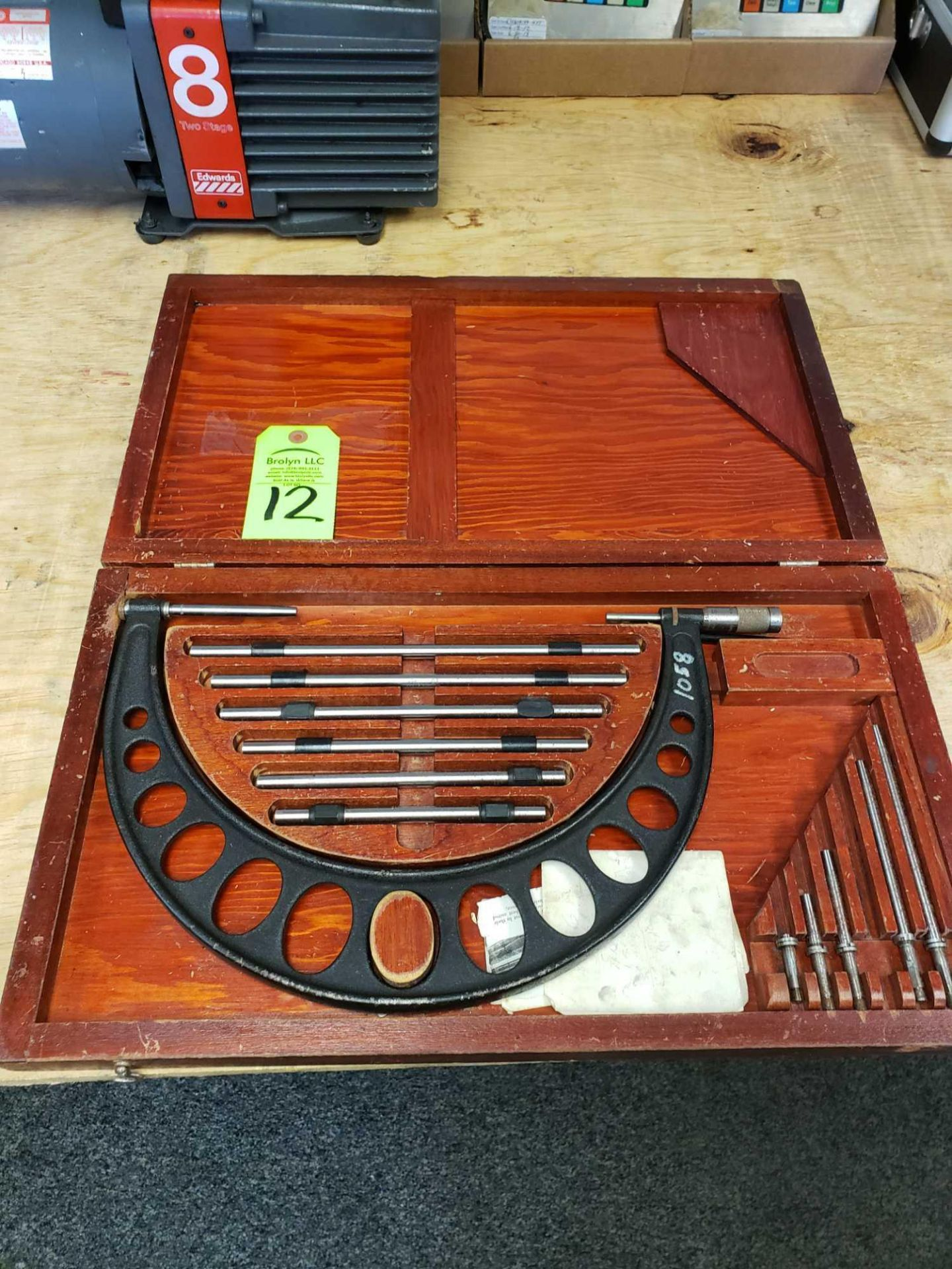 Lot 12 - Brown and Sharpe Micrometer set with standards