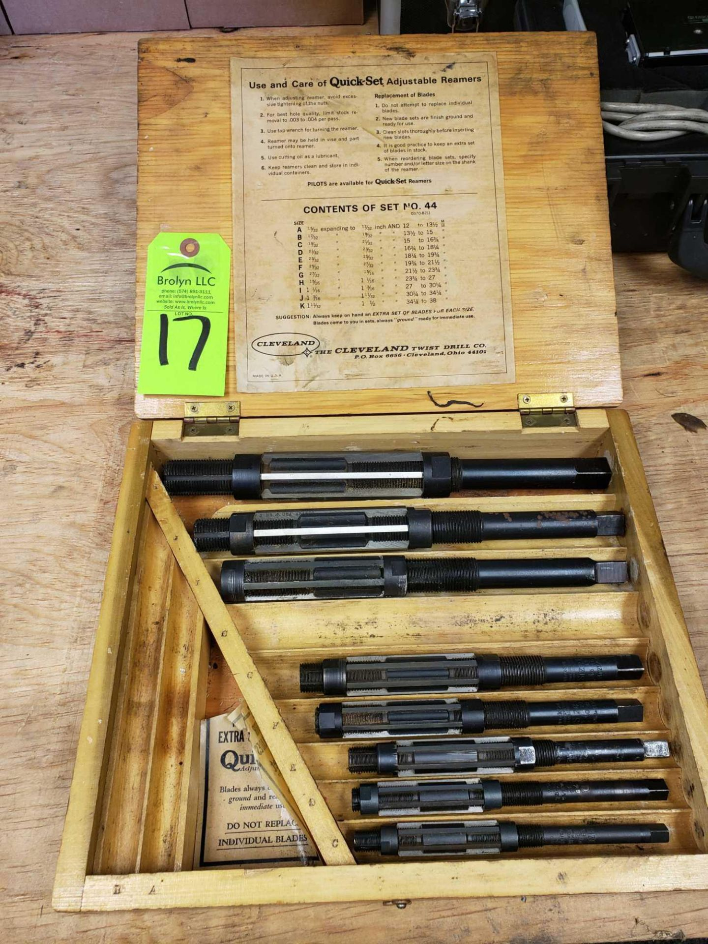 Lot 17 - Cleveland Reamer set as pictured