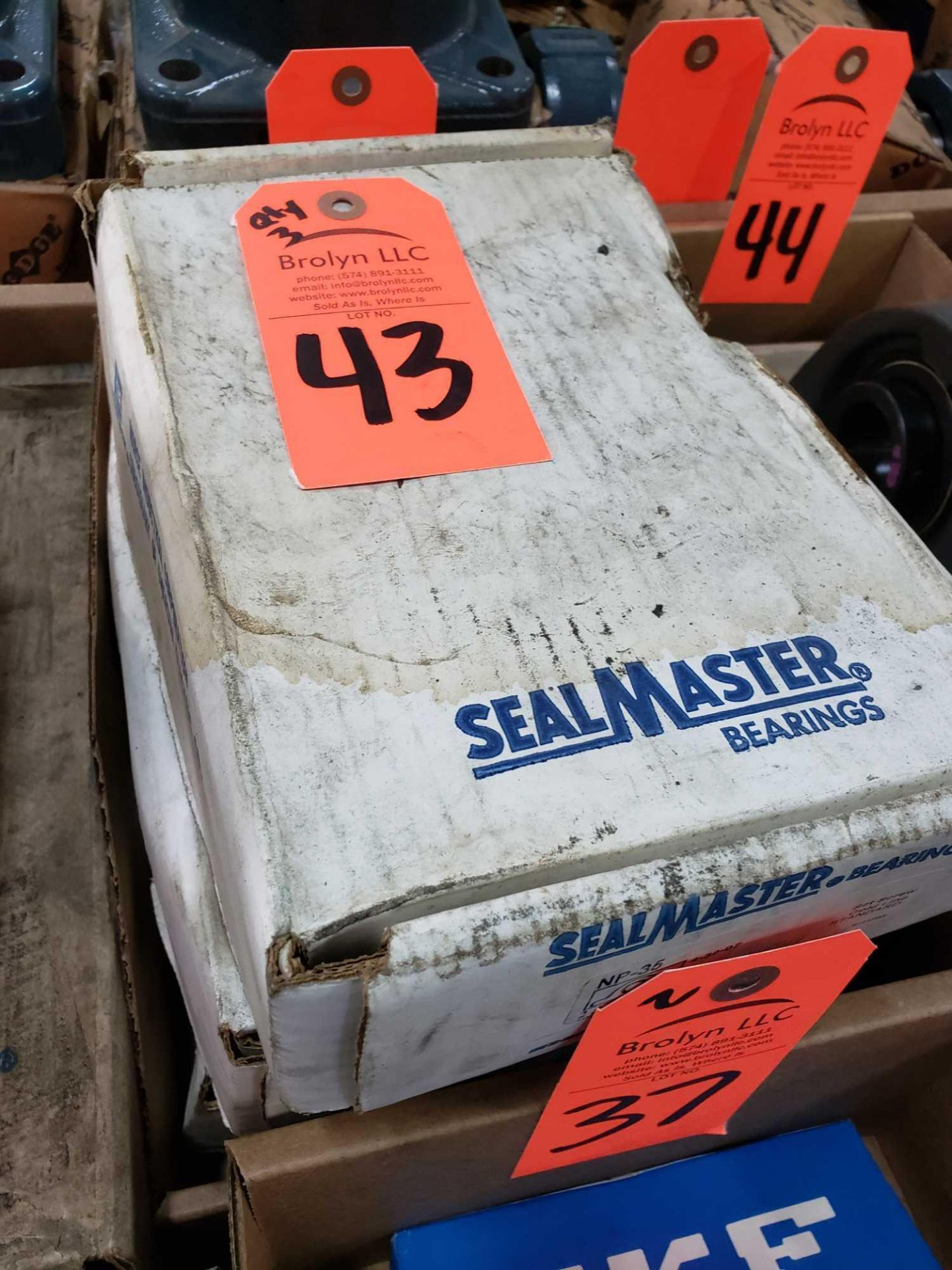 Lot 43 - Qty 3 - Sealmaster Bearings Model NP-35. New in boxes.