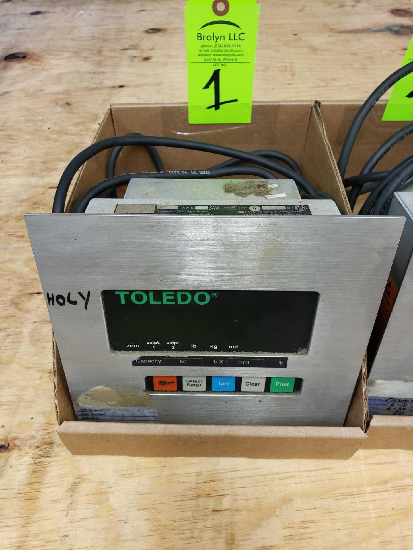 Lot 1 - Toledo scale display model 8510