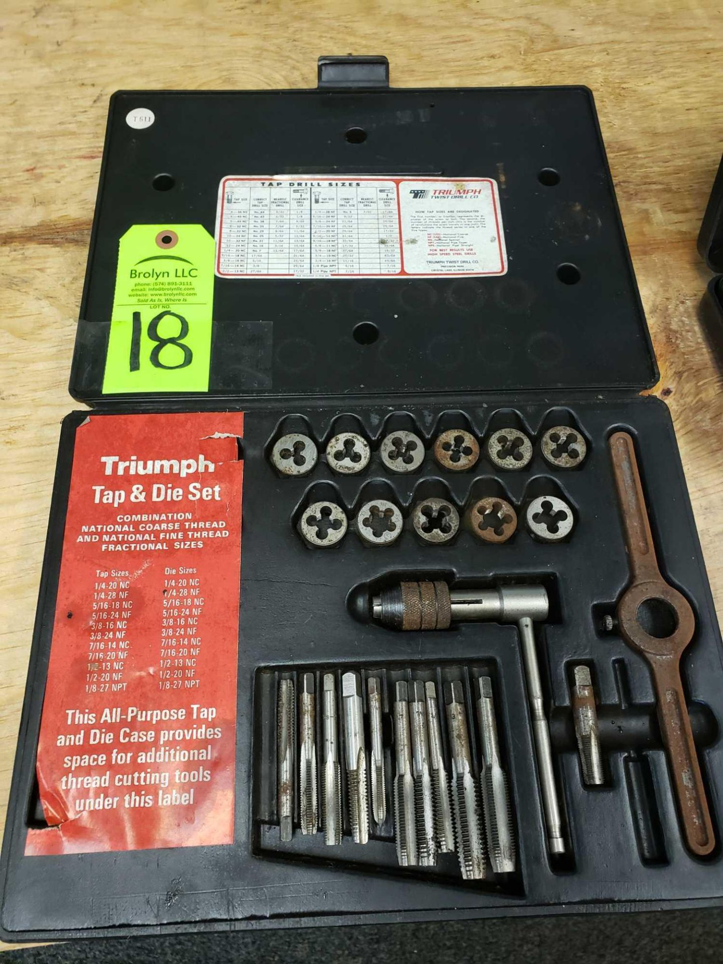 Lot 18 - Triumph Tap and Die Set as pictured