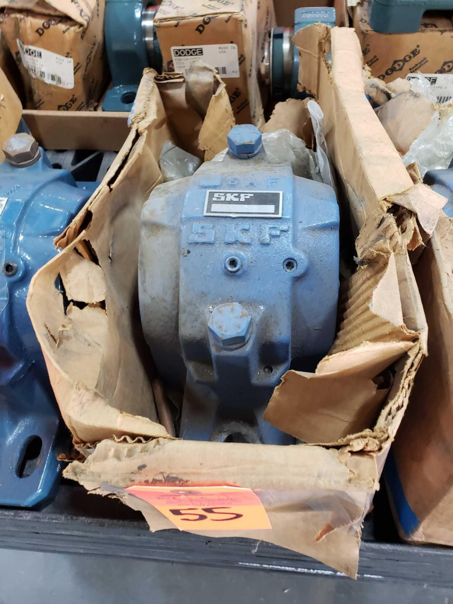 Lot 55 - SKF Bearing Part number SAF-216. New, but dusty from storage.