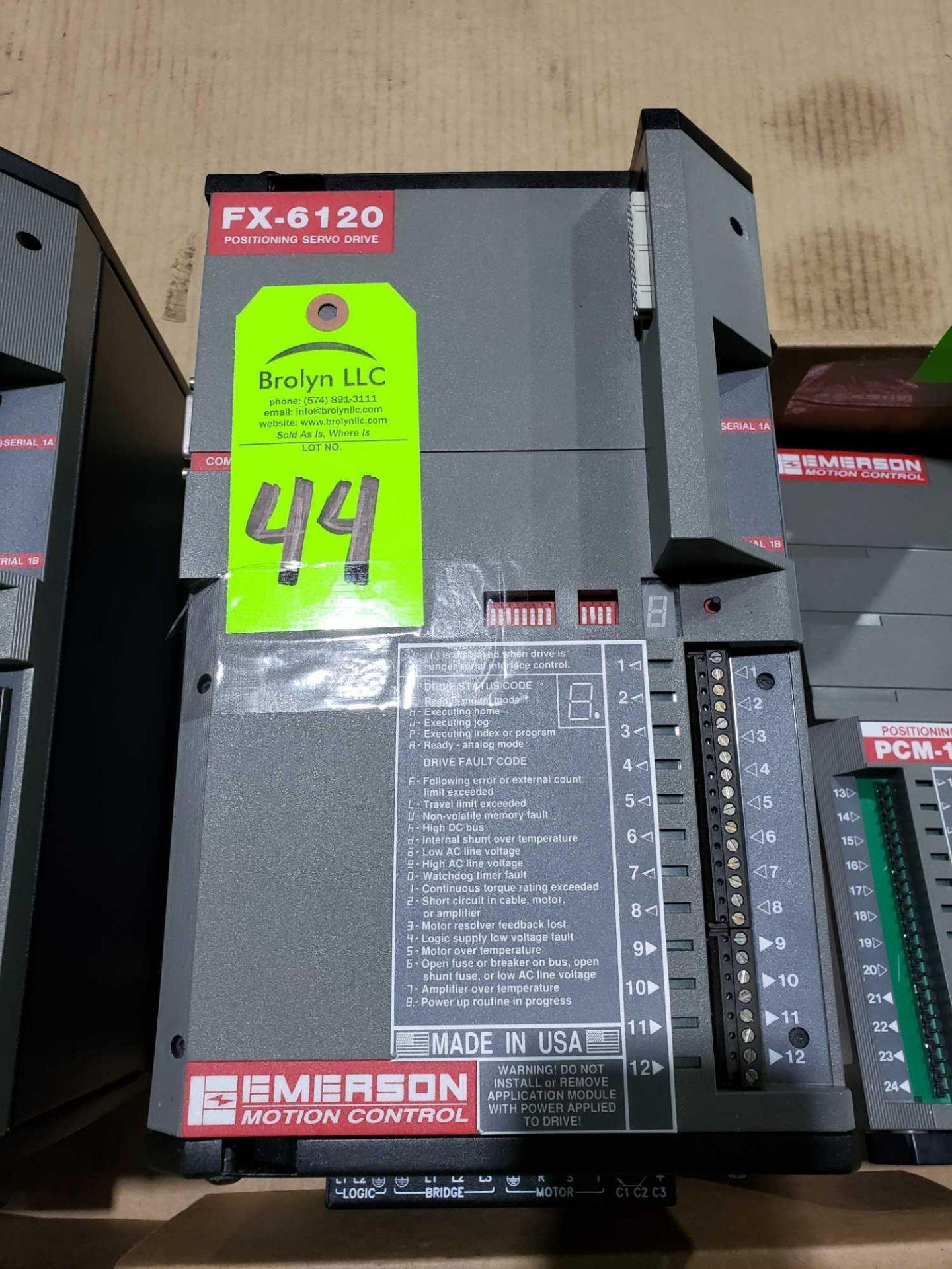 Lot 44 - Emerson FX-6120 positioning servo drive.