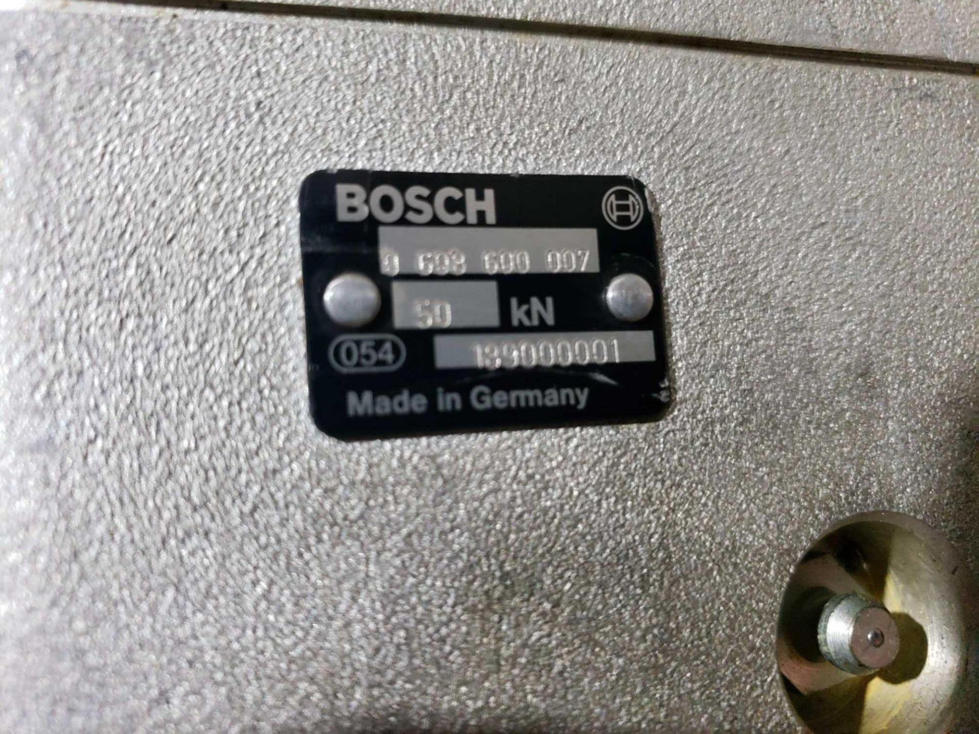 Lot 51 - Bosch Spindle drive. Part numbers 0-608-609-007, 0-608-701-004, and 3-608-613-001.