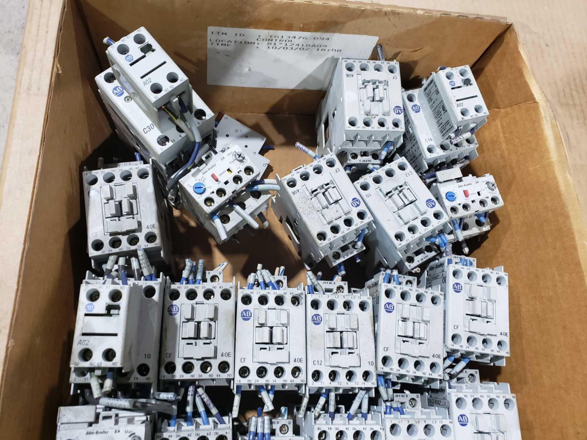 Lot 24 - Large Qty of Allen Bradley Contactors in assorted sizes and part numbers.