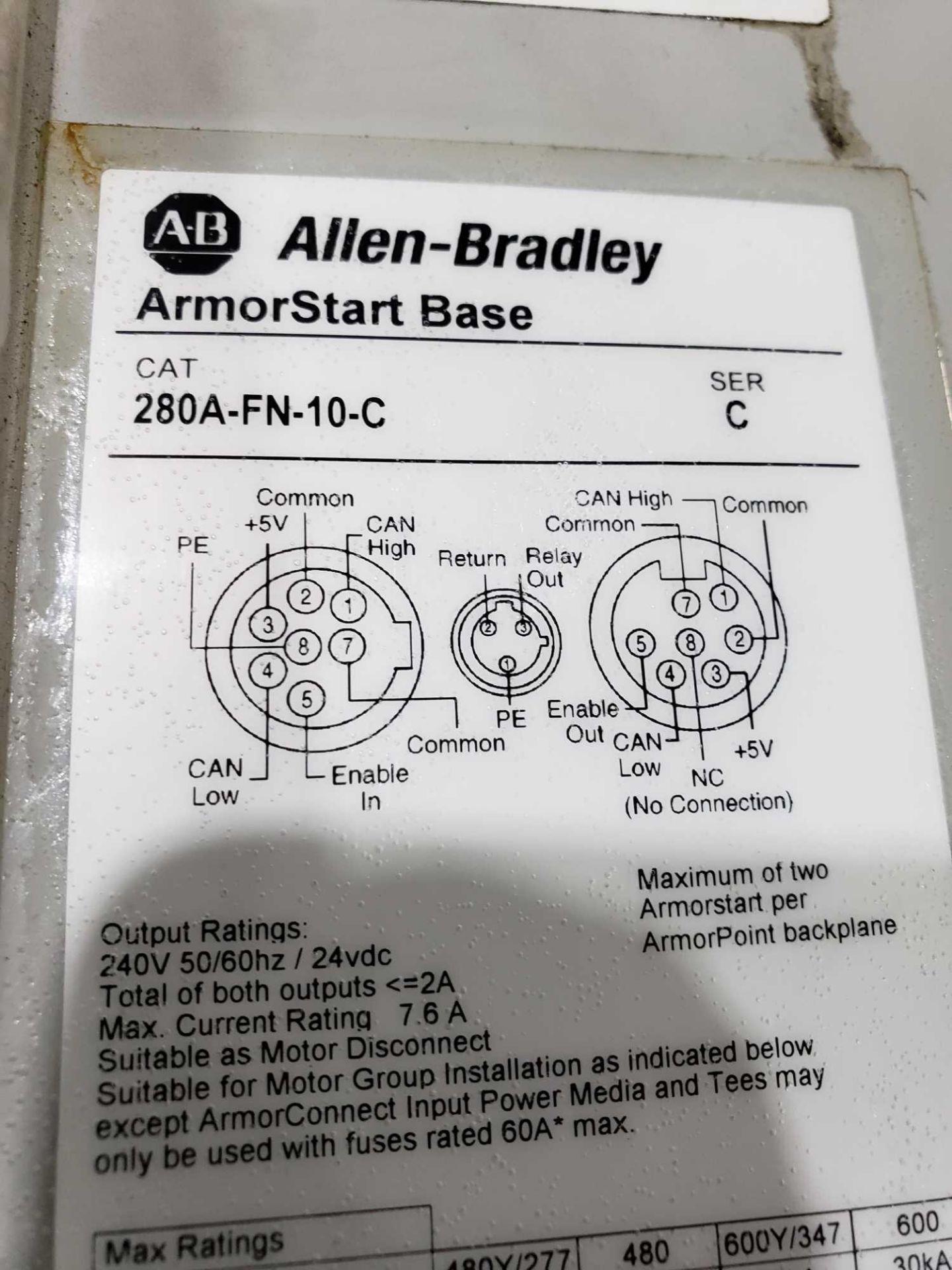 Lotto 13 - Allen Bradley Armorstart Catalog 281A-F12Z-10A-CR with base Catalog 280A-FN-10C.