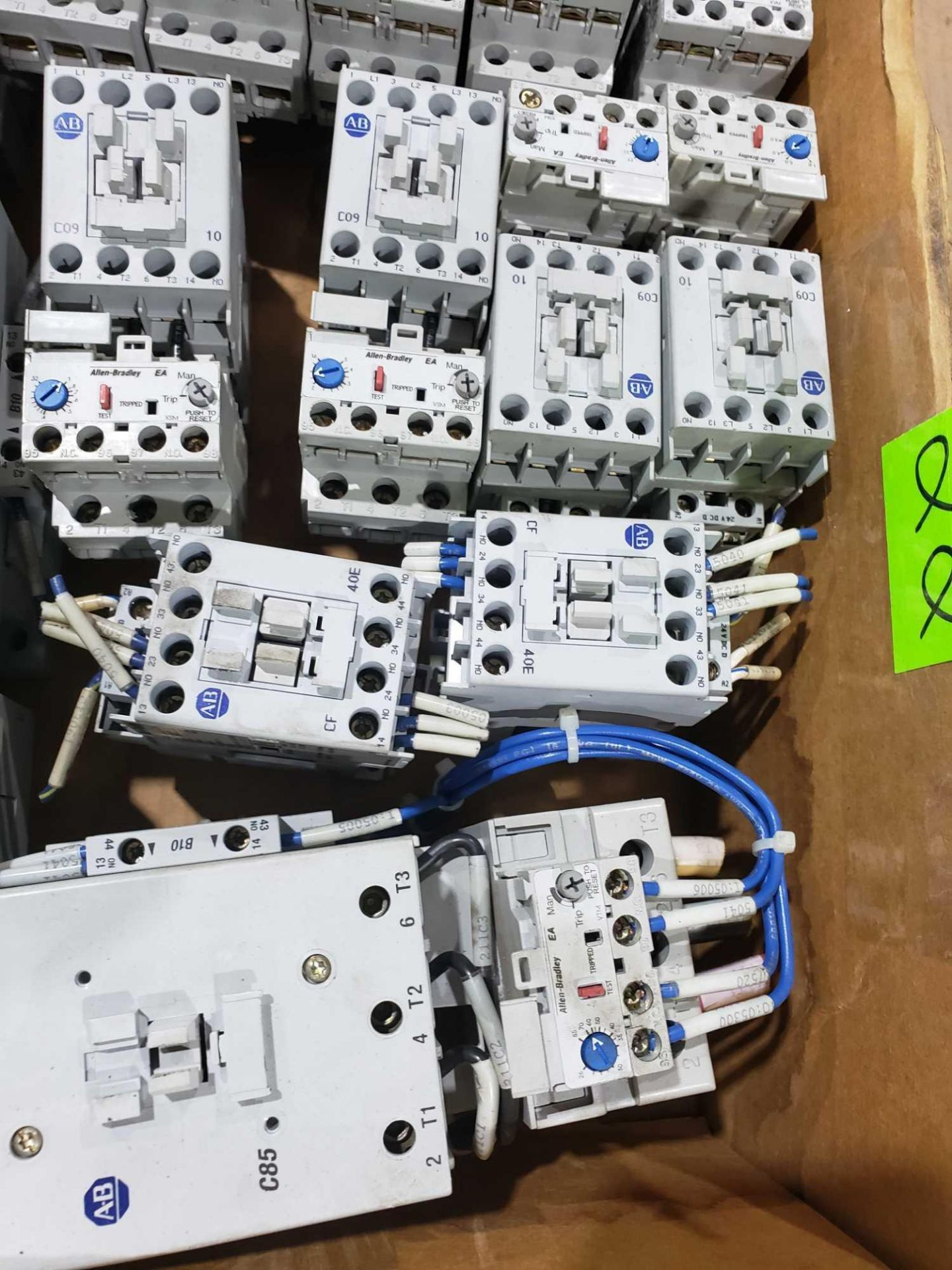 Lot 22 - Large Qty of Allen Bradley Contactors in assorted sizes and part numbers.