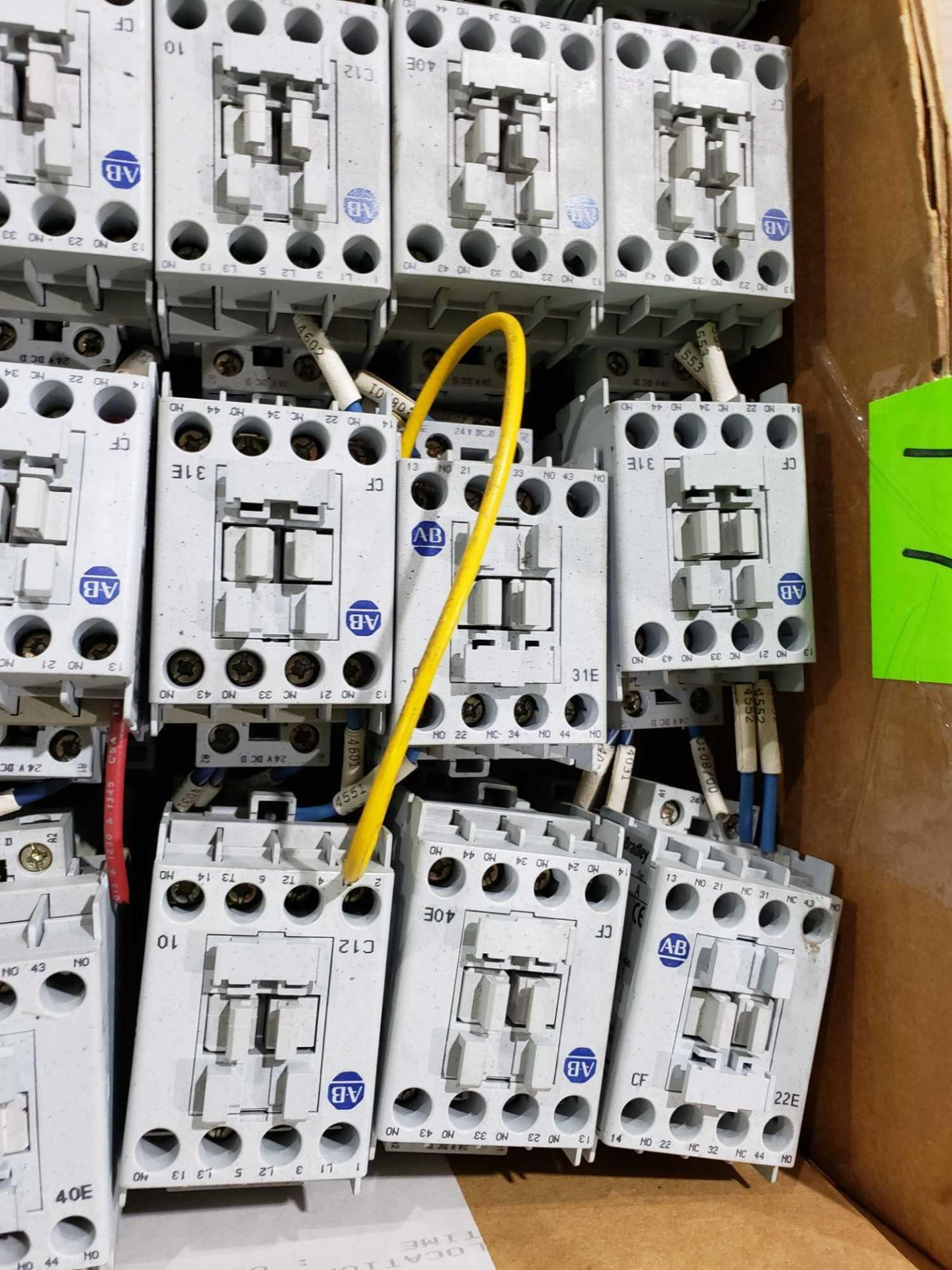 Lot 17 - Large Qty of Allen Bradley Contactors in assorted sizes and part numbers.
