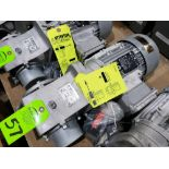 Lot 57 - Nord Systems 10.83:1 gear box and motor. Type SK92172.1AMHD-80S/4CUS and SK80S/4CUS. NEW.