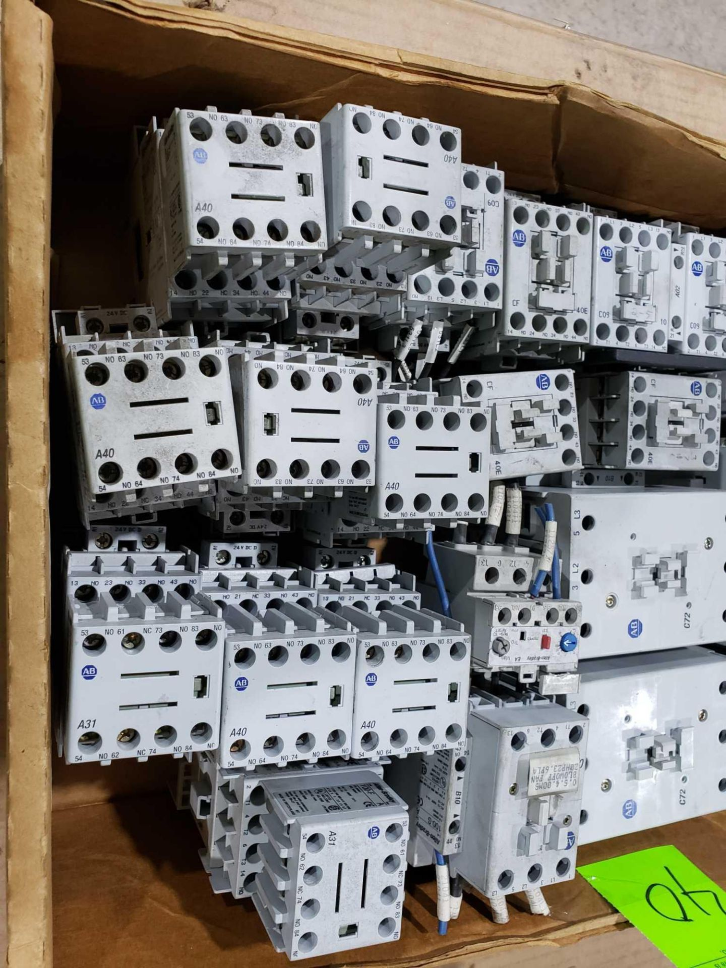 Lot 40 - Large Qty of Allen Bradley Contactors in assorted sizes and part numbers.