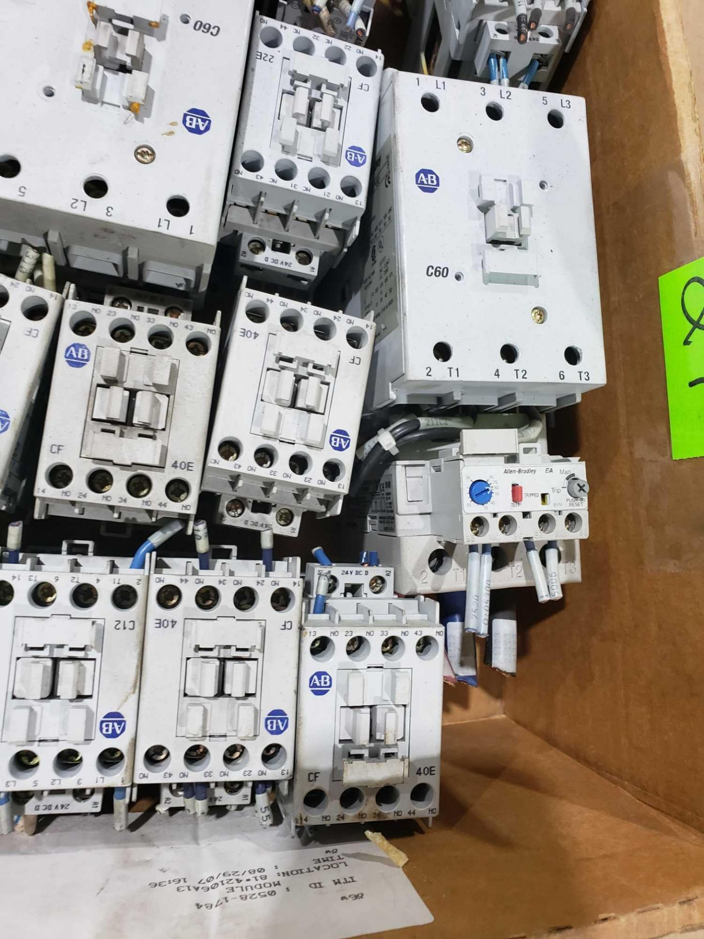 Lot 21 - Large Qty of Allen Bradley Contactors in assorted sizes and part numbers.