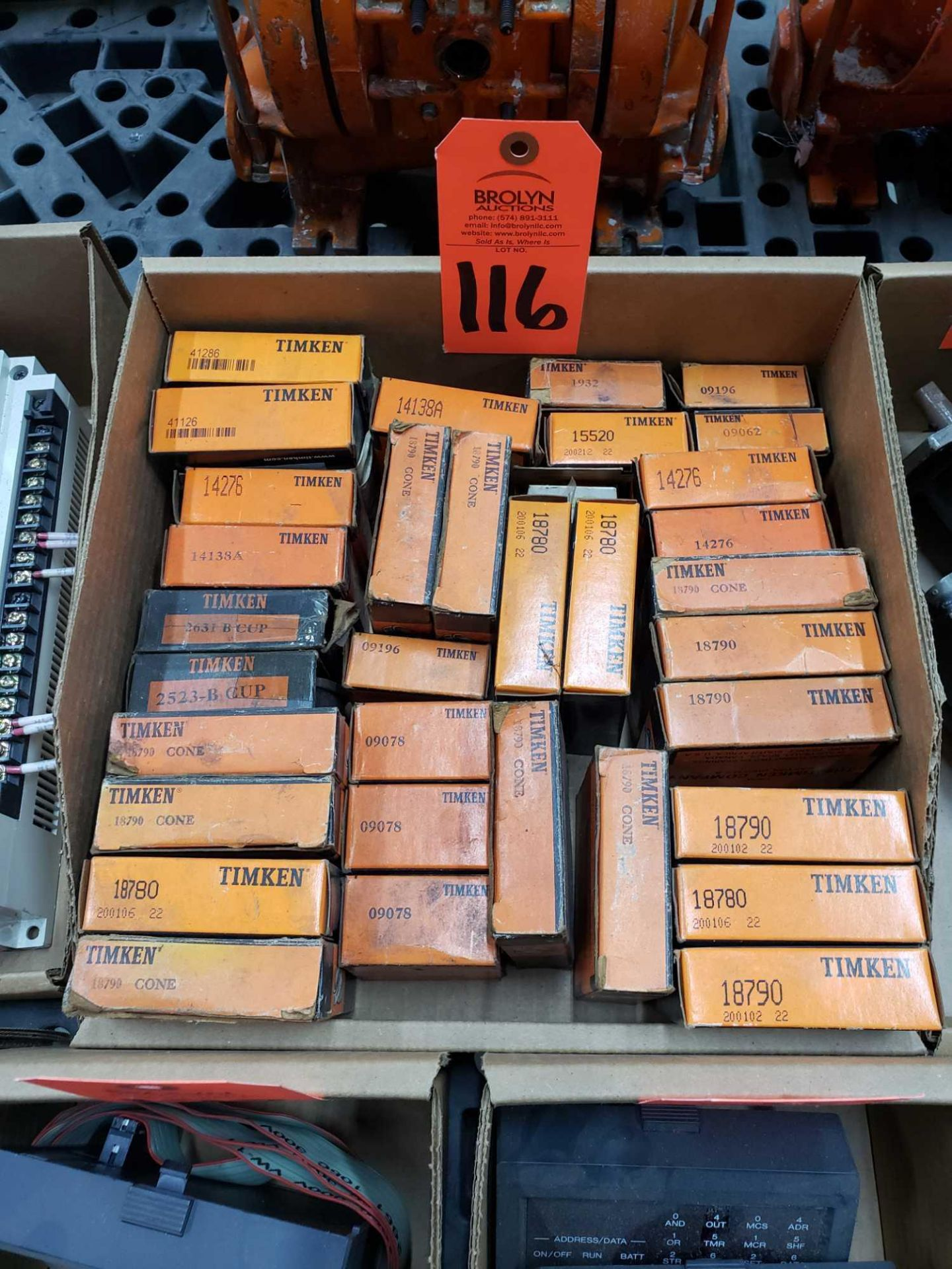 Lot 116 - Large assortment of Timken bearings new in box as pictured.