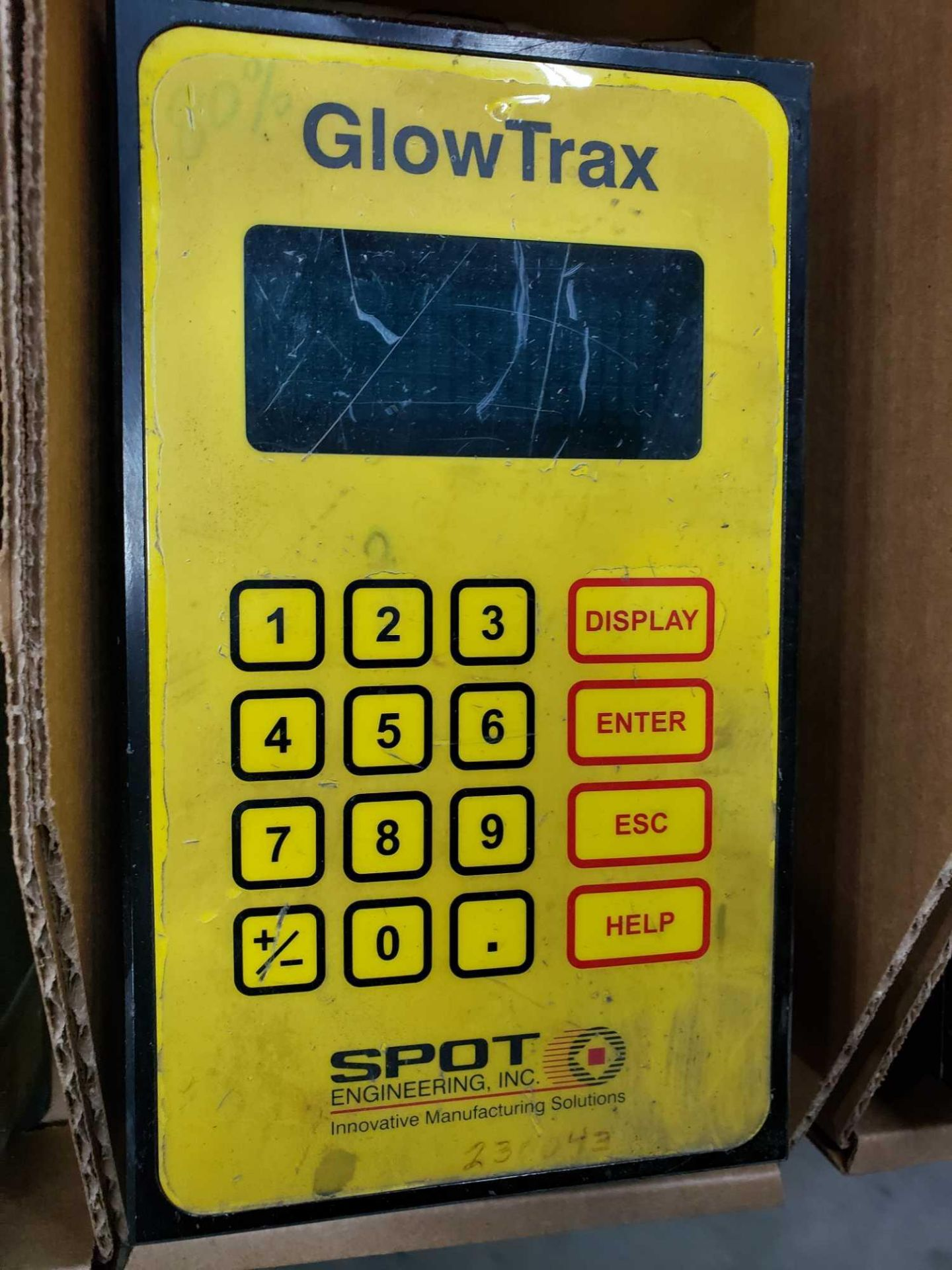 Lot 80 - Spot Engineering model GlowTrax mercury detector control unit.