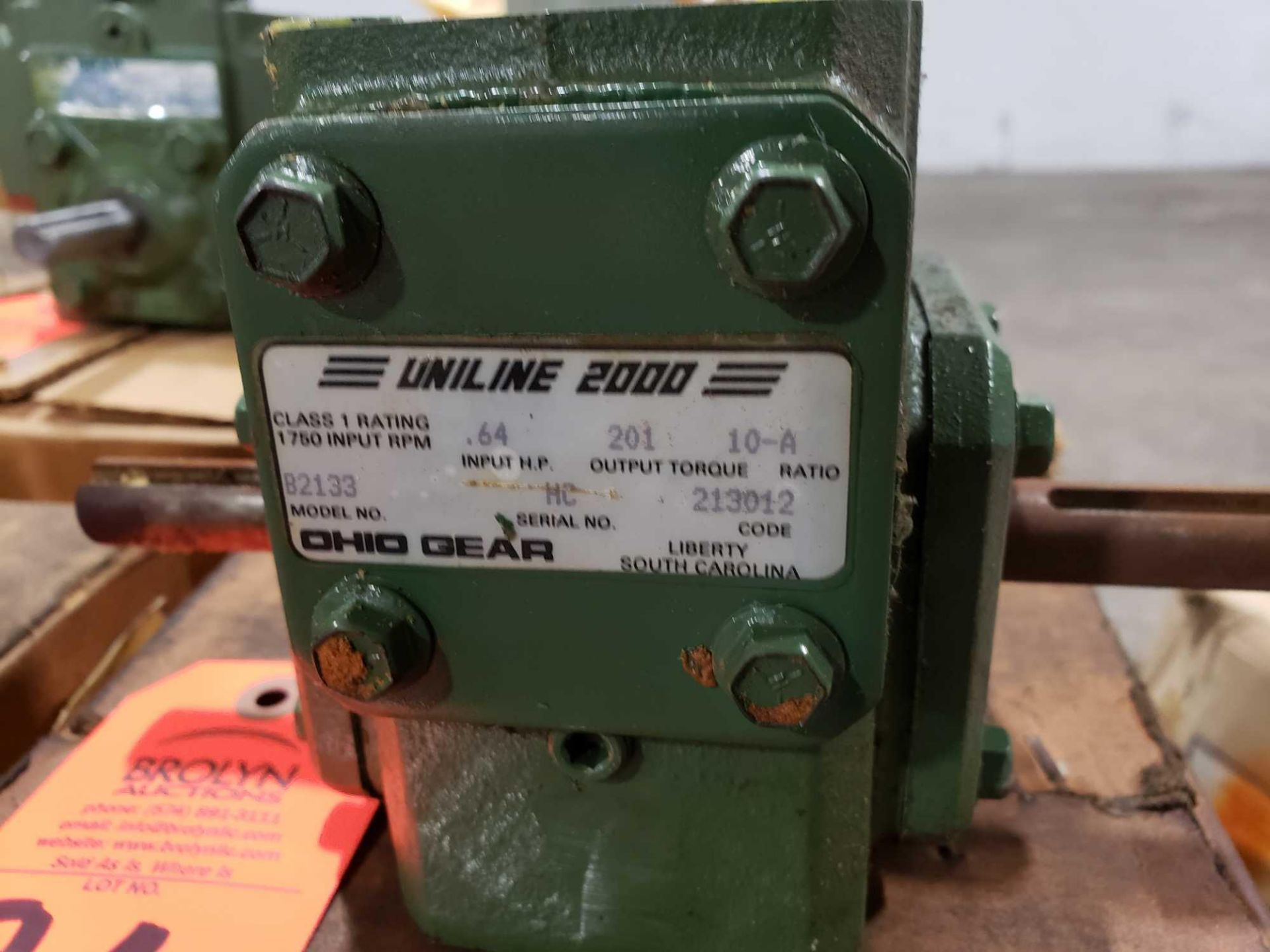 Lot 26 - UniLine 2000 Ohio Gear model B2133 ratio 10 A. New in box.