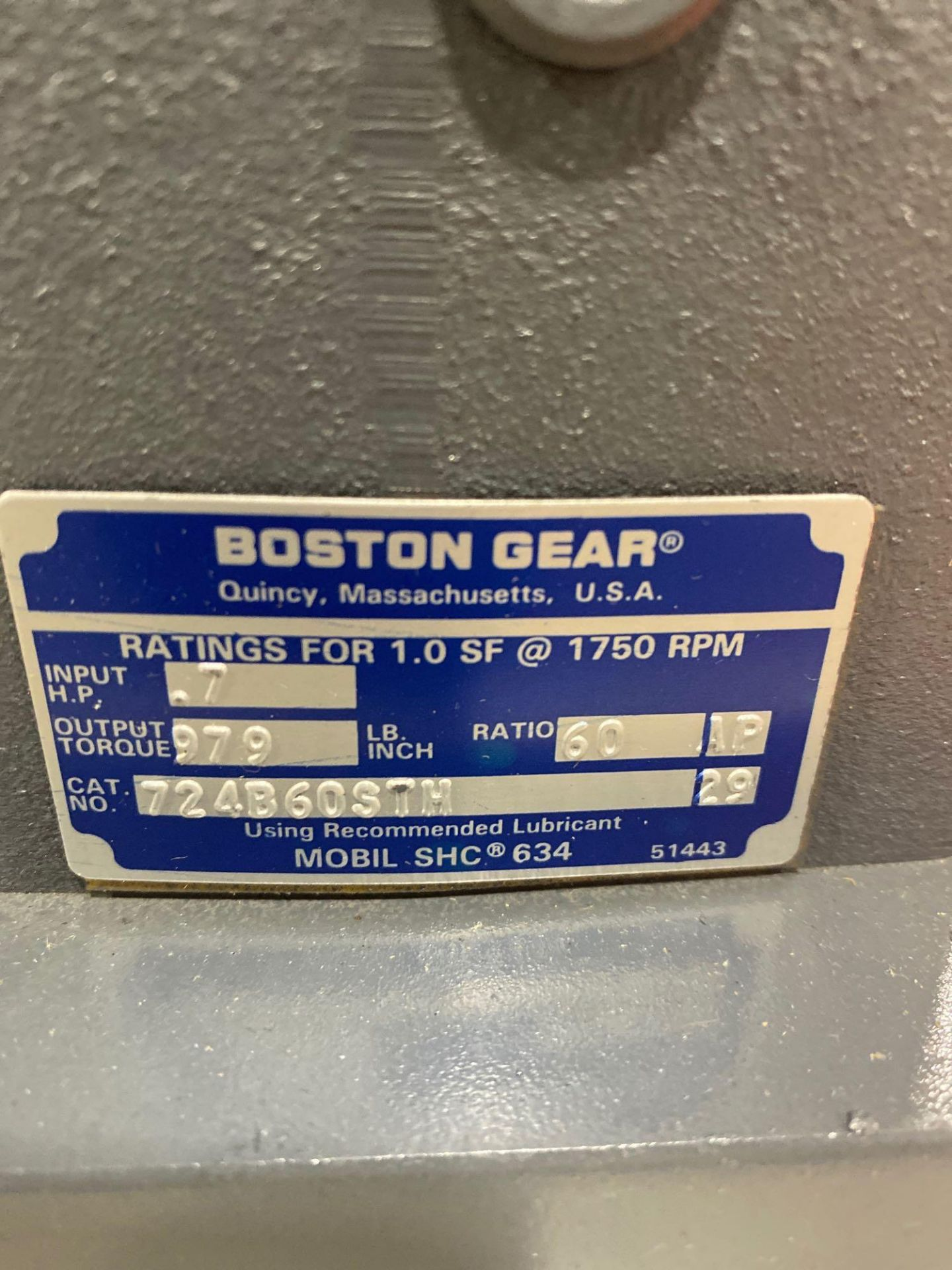 Lot 2 - Boston Gear catalog 724B-60ST-H gear box. New in box as pictured.