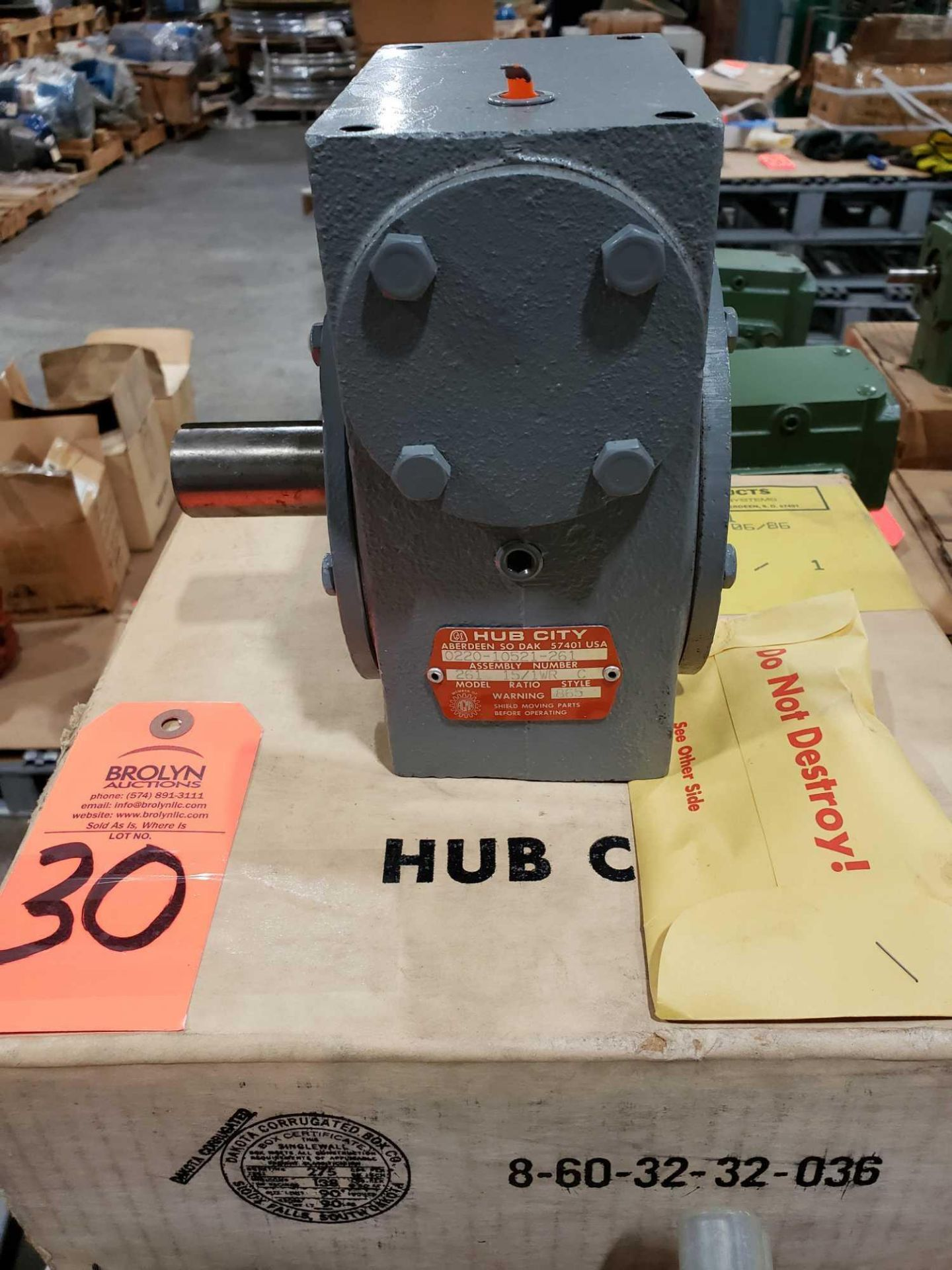 Lot 30 - Hub City model 261 gear box. Ratio 15/1WR. New in box.