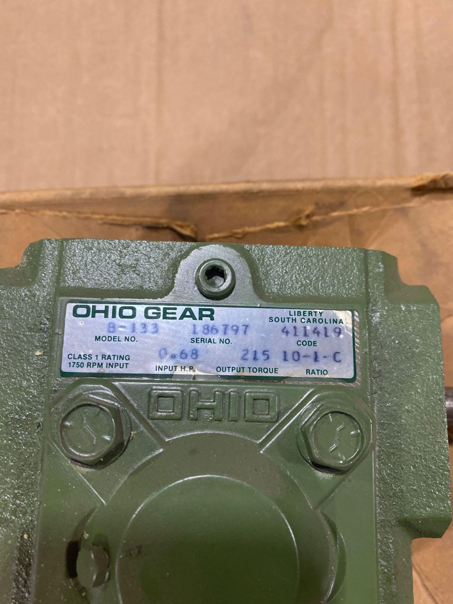 Lot 17 - Ohio Gear model B-133 gearbox. 10:1 ratio. New in box.