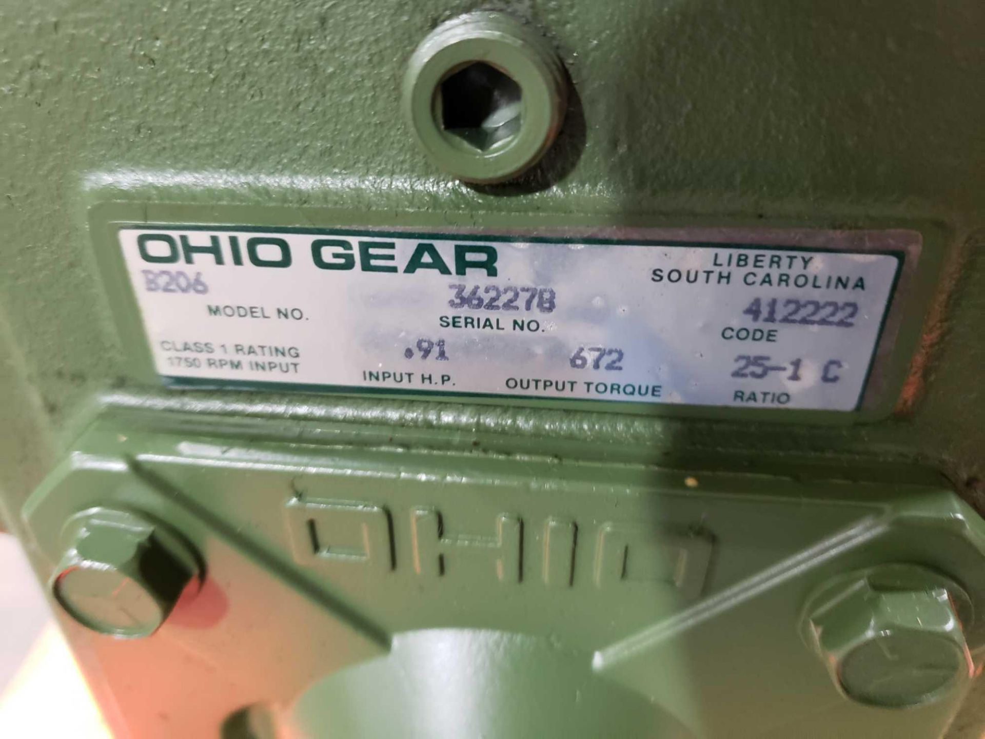 Lot 22 - Ohio Gear model B206 gear box. 25:1 ratio. New in box.