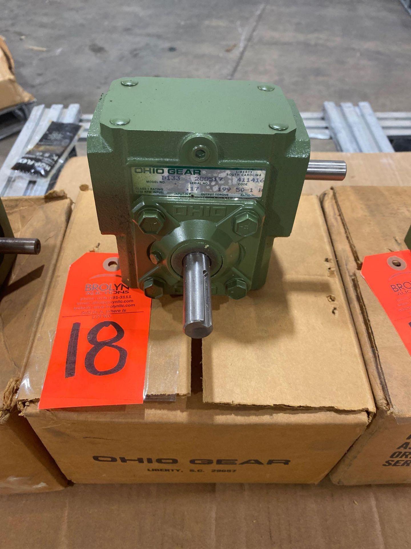 Lot 18 - Ohio Gear model B-133 gearbox. 50:1 ratio. New in box.