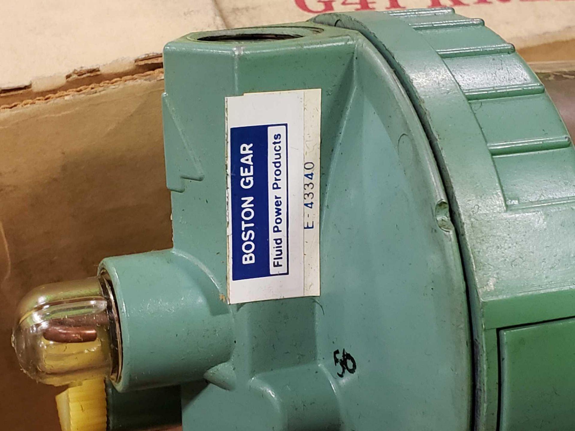 Lot 38 - Qty 3 - Boston Gear Fluid Power Products model E-43340 filter unit. New in box.