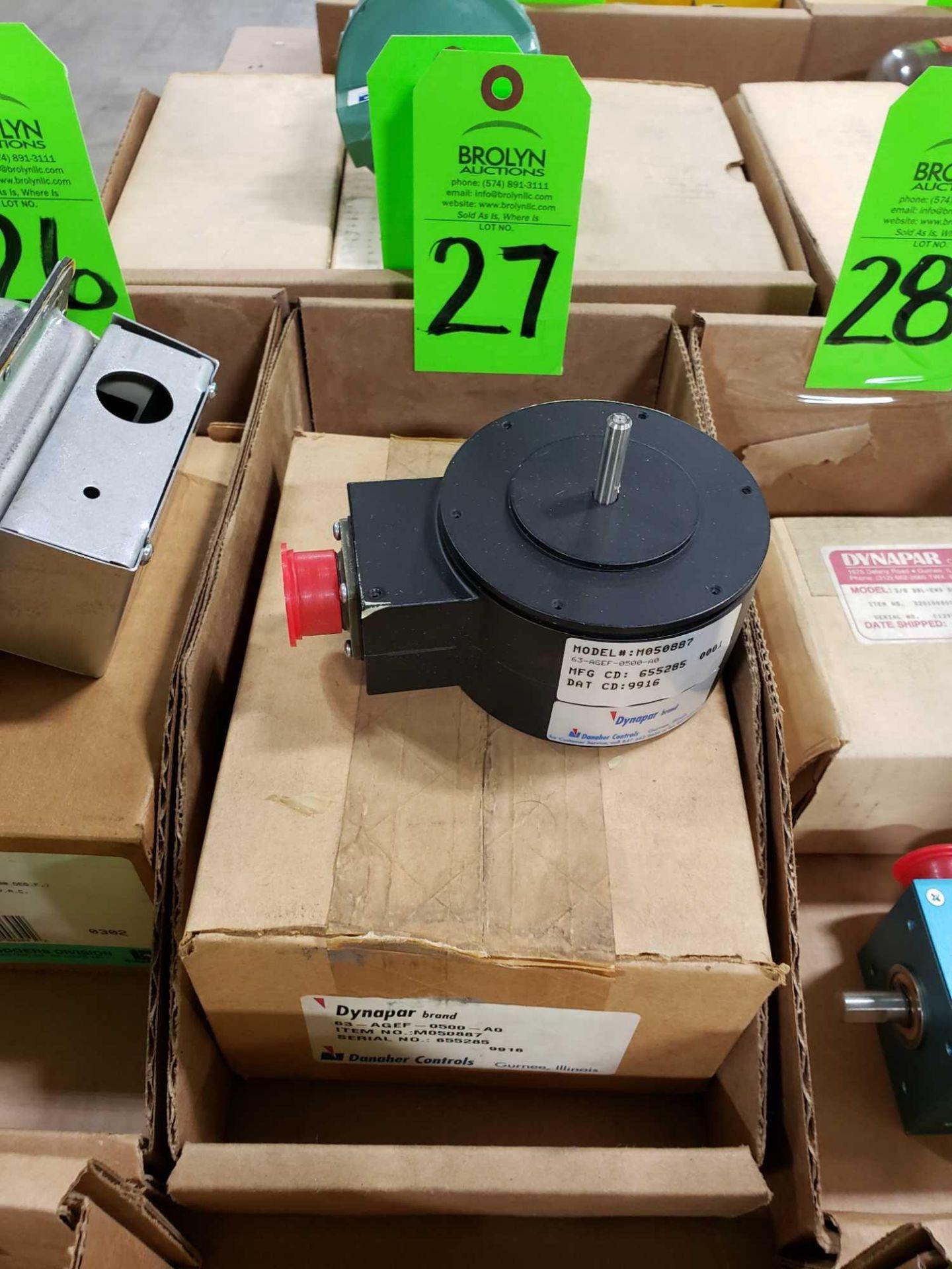 Lot 27 - Dynapar 63-AGEF-0500-A0 incremental encoder. Model M0508877. New in box.