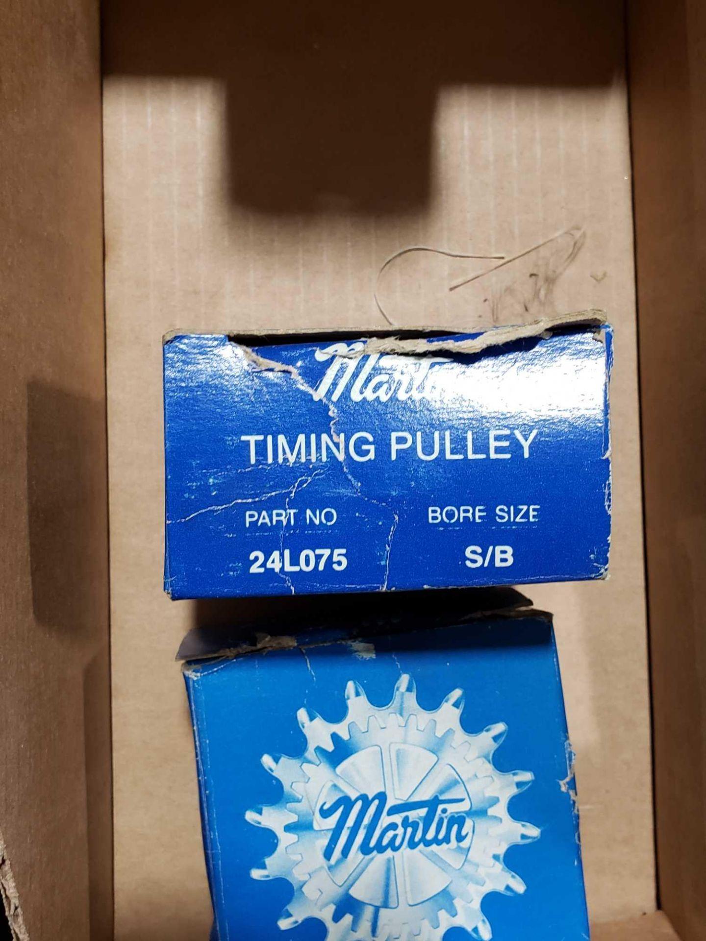Lot 17 - Qty 2 - Martin timing pulley model 24L075. New in box.