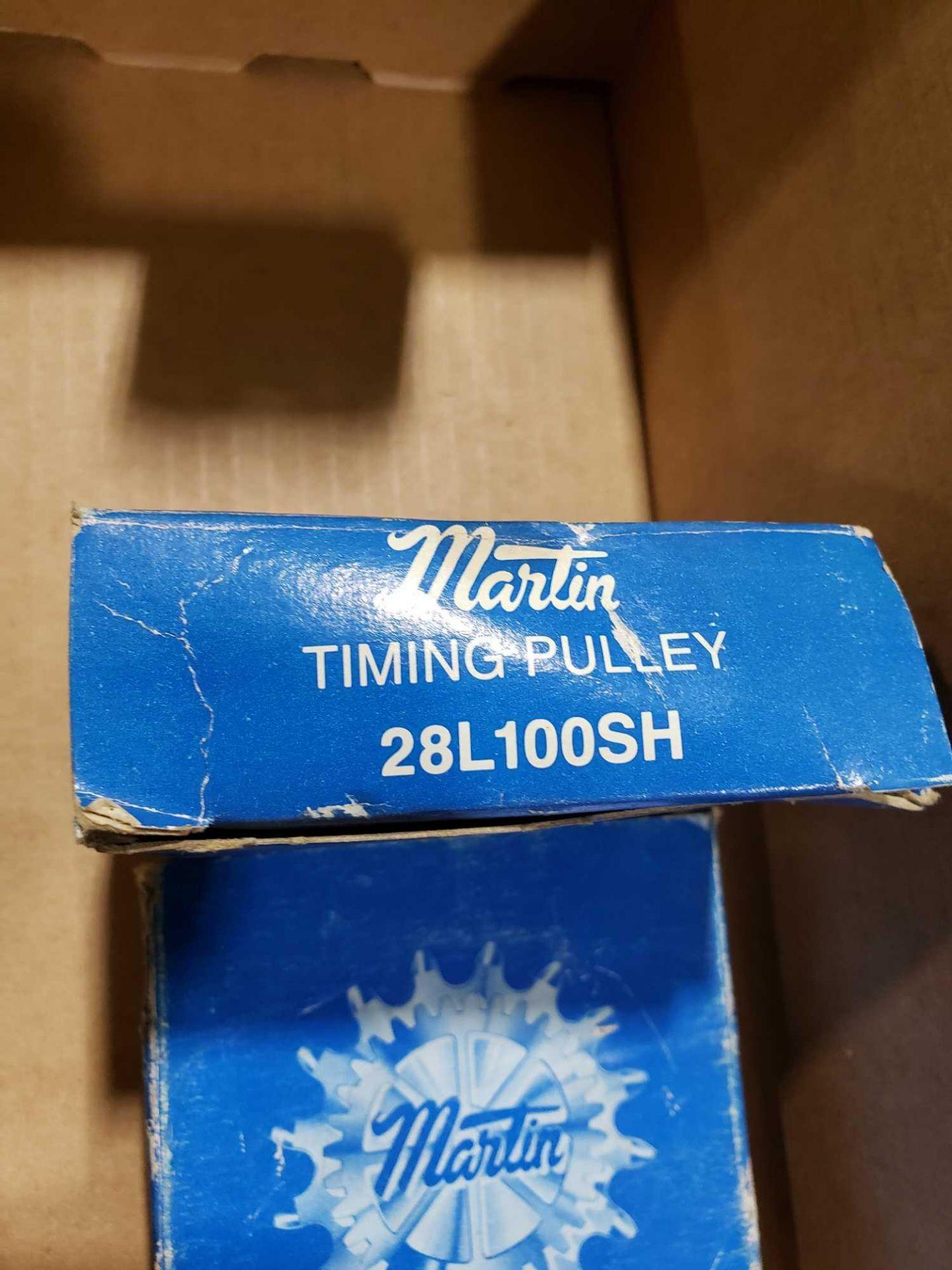 Lot 15 - Qty 2 - Martin timing pulley model 28L100SH. New in box.
