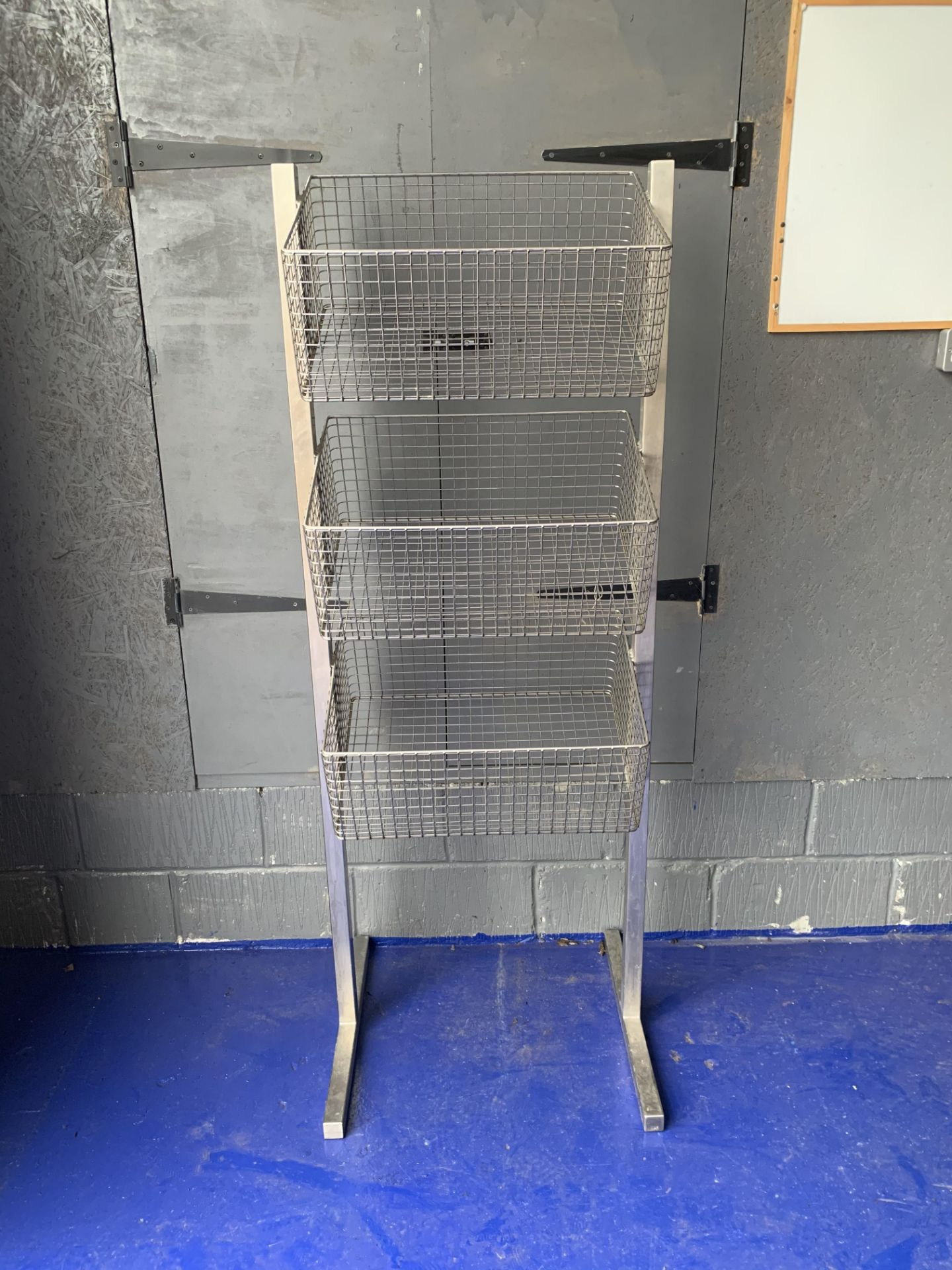 Lot 237 - 3 tier stainless steel display basket