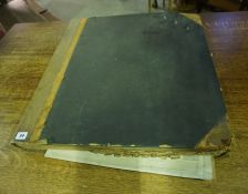 A Large Antique Ledger Containing Newspaper Cuttings, Relating to Edinburgh, circa 1906