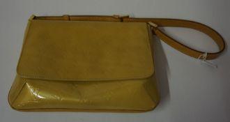 "A Louis Vuitton ""Thompson Street"" Evening Bag, In a yellow colour, 28cm wide,"