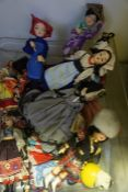 A Quantity of World Tourist Dolls, Also with a simulated mink cape, (a lot)