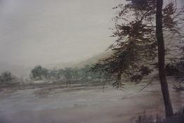 "Tibbie Shiels ""St Marys Loch Yarrow"" Watercolour, 25 x 37cm"